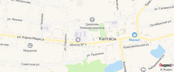 Улица Пушкина на карте села Калтасов с номерами домов