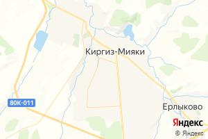 Карта с. Киргиз-Мияки Республика Башкортостан