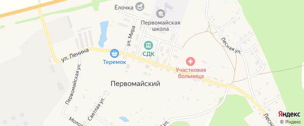 Улица Ленина на карте села Первомайского с номерами домов