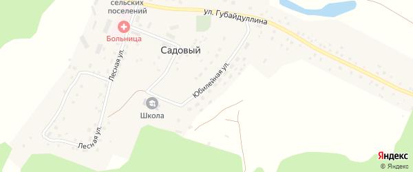 Юбилейная улица на карте села Садового с номерами домов