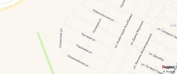 Луговая улица на карте Дюртюлей с номерами домов