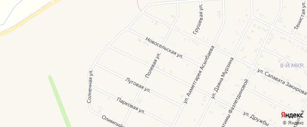 Полевая улица на карте Дюртюлей с номерами домов