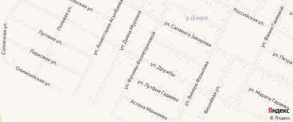 Улица Дружбы на карте Дюртюлей с номерами домов
