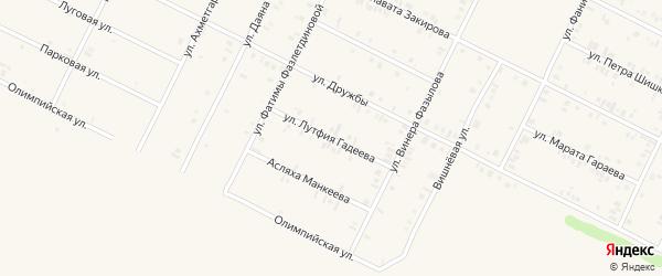 Улица Лутфия Гадеева на карте Дюртюлей с номерами домов