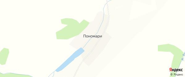 Карта деревни Пономари в Пермском крае с улицами и номерами домов