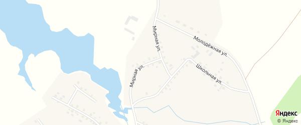 Мирная улица на карте села Таймурзино с номерами домов