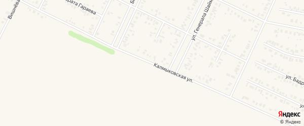 Калмыковская улица на карте Дюртюлей с номерами домов