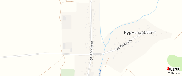 Улица Королева на карте деревни Курманайбаша с номерами домов