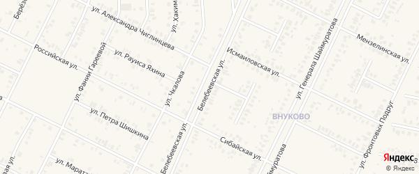 Белебеевская улица на карте Дюртюлей с номерами домов