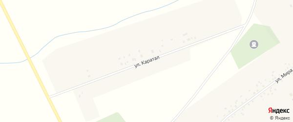 Улица Каратал на карте села Аблаево Башкортостана с номерами домов