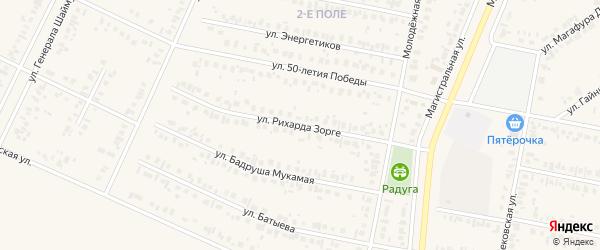 Улица Рихарда Зорге на карте Дюртюлей с номерами домов