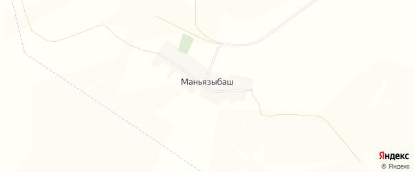 Карта деревни Маньязыбаша в Башкортостане с улицами и номерами домов