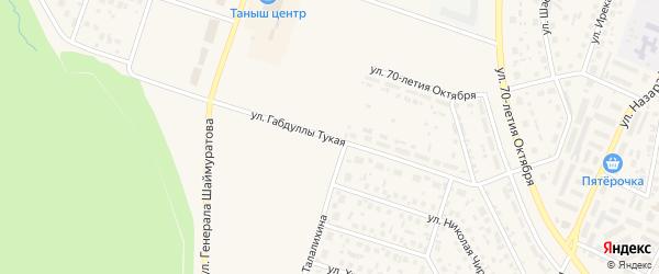 Габдуллы Тукая улица на карте Дюртюлей с номерами домов