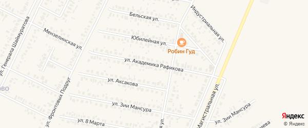 Улица Академика Рафикова на карте Дюртюлей с номерами домов