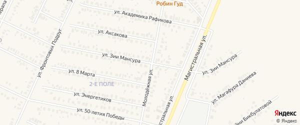 Улица Зии Мансура на карте Дюртюлей с номерами домов