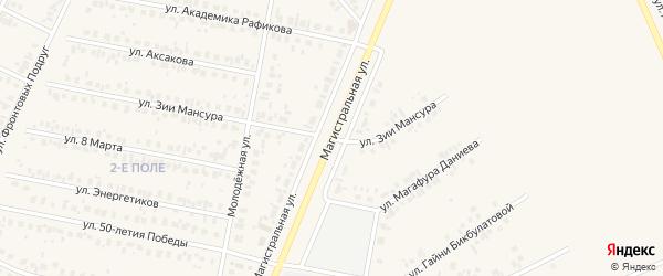 Магистральная улица на карте Дюртюлей с номерами домов