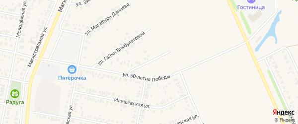 Улица Данила Агадуллина на карте Дюртюлей с номерами домов