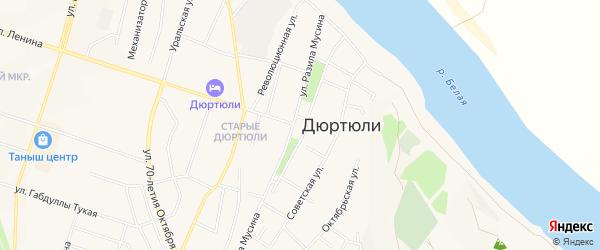 НСТ Чулпан на карте Дюртюлей с номерами домов
