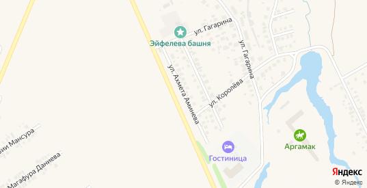 Улица Ахмета Аминева в Дюртюлях с номерами домов на карте. Спутник и схема онлайн