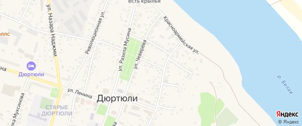 Кооперативный переулок на карте Дюртюлей с номерами домов
