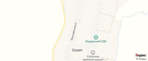 Молодежная улица на карте села Шудека с номерами домов
