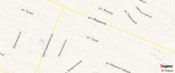 Тукая улица на карте села Раевского с номерами домов