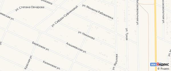 Улица А.Никонова на карте села Раевского с номерами домов