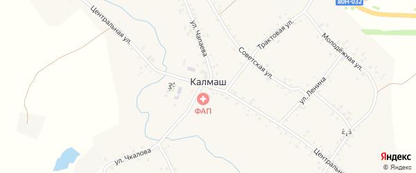 Дорожная улица на карте деревни Калмаша с номерами домов