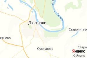 Карта г. Дюртюли Республика Башкортостан