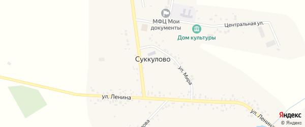 Улица Победы на карте села Суккулово с номерами домов