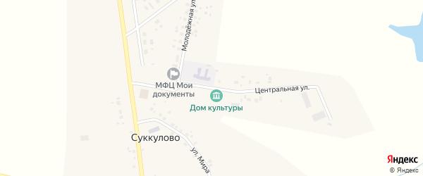 Центральная улица на карте села Суккулово Башкортостана с номерами домов