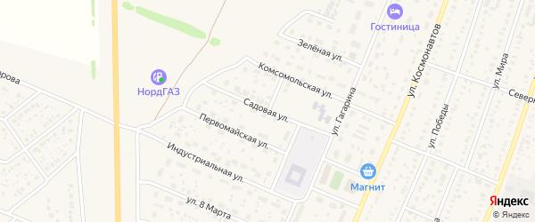 Садовая улица на карте села Раевского с номерами домов