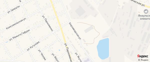 Кирзаводская улица на карте Янаула с номерами домов