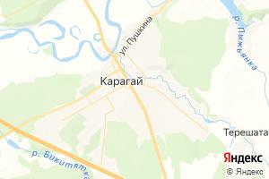 Карта с. Карагай