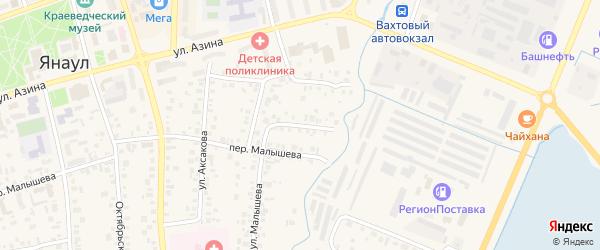 Улица Достоевского на карте Янаула с номерами домов