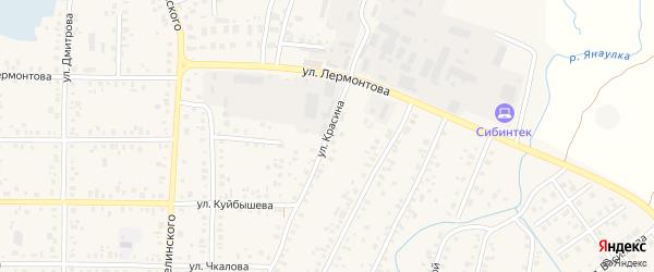 Улица Красина на карте Янаула с номерами домов