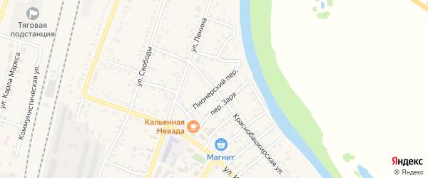 Пионерский переулок на карте села Раевского с номерами домов
