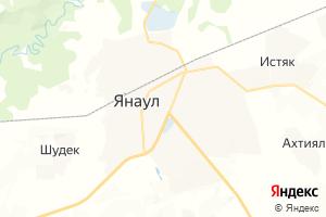 Карта г. Янаул Республика Башкортостан
