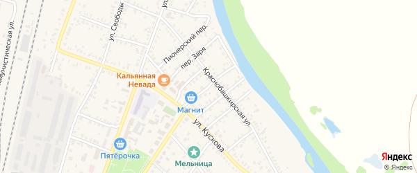 Переулок Морозова на карте села Раевского с номерами домов