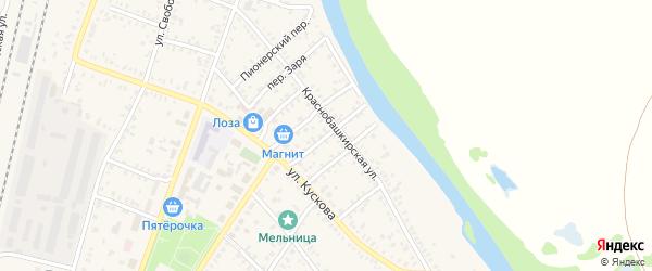 Демский переулок на карте села Раевского с номерами домов