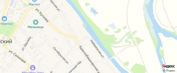 Набережная улица на карте села Раевского с номерами домов