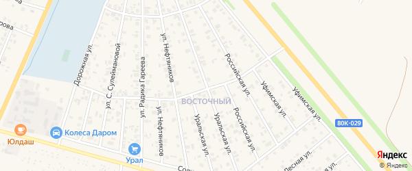 Уральская улица на карте Янаула с номерами домов