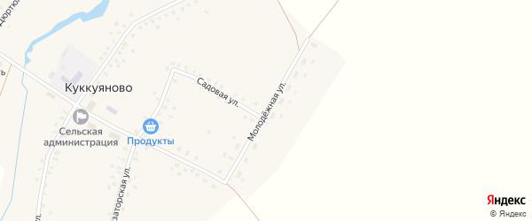 Молодежная улица на карте села Куккуяново с номерами домов