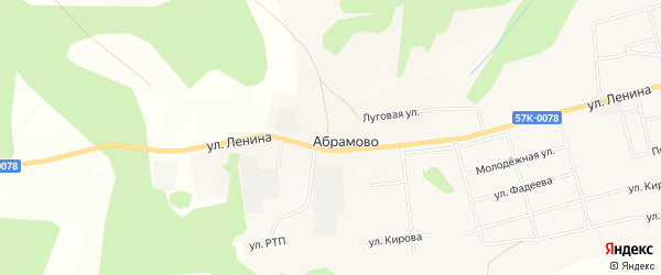 Карта деревни Абрамово в Пермском крае с улицами и номерами домов