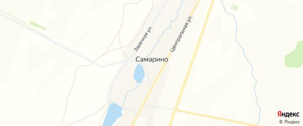 Карта села Самарино в Башкортостане с улицами и номерами домов