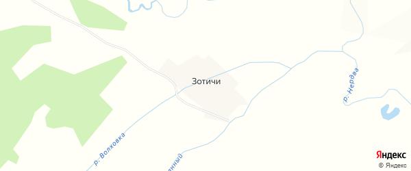 Карта деревни Зотичи в Пермском крае с улицами и номерами домов