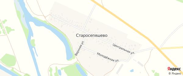 Молодежная улица на карте деревни Старосепяшево с номерами домов