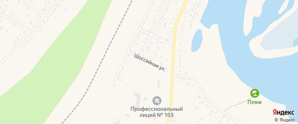 Шоссейная улица на карте Давлеканово с номерами домов