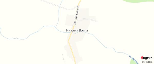 Карта деревни Нижней Волпы в Пермском крае с улицами и номерами домов