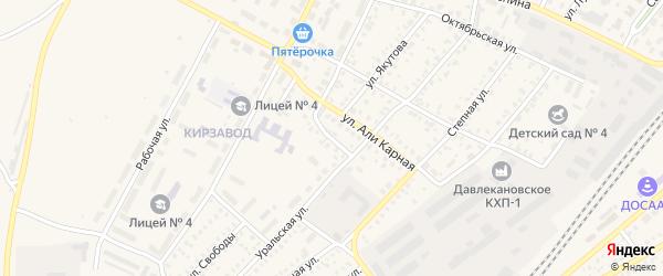 Полевая улица на карте Давлеканово с номерами домов